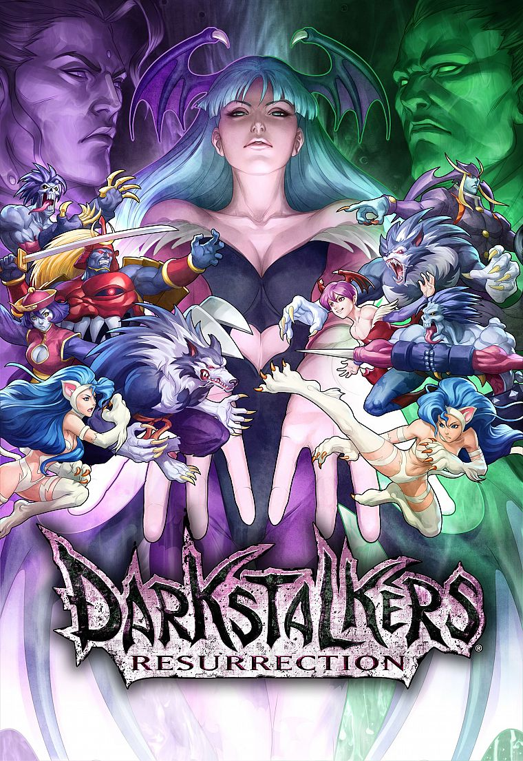 Darkstalkers, video games, Morrigan Aensland, Lilith Aensland, Felicia (Darkstalkers) - desktop wallpaper