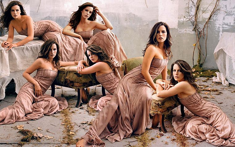 women, actress, Kate Beckinsale, photo manipulations - desktop wallpaper