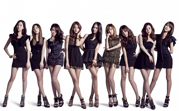 women, Girls Generation SNSD, celebrity, simple background - desktop wallpaper