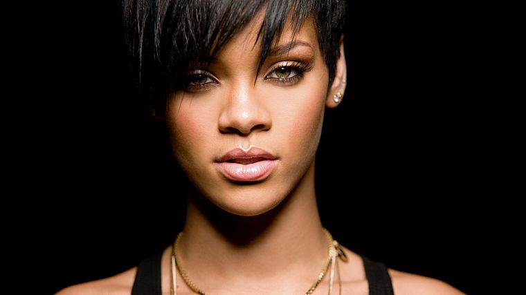 women, black people, Rihanna, stare, celebrity, singers - desktop wallpaper