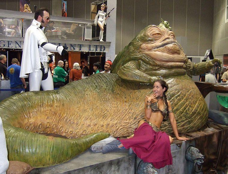 Star Wars, cosplay, Jabba the Hutt - Free Wallpaper ... Jabba The Hutt Cosplay
