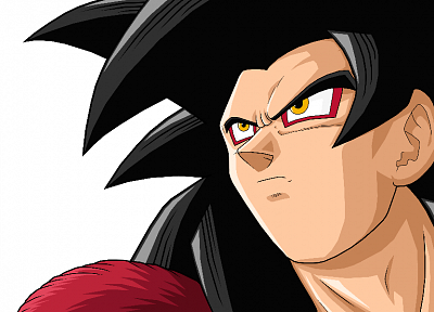 Son Goku, anime, Dragon Ball Z, simple background, white background - desktop wallpaper