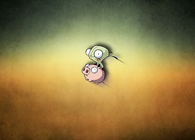 Invader Zim, pigs, Gir - random desktop wallpaper