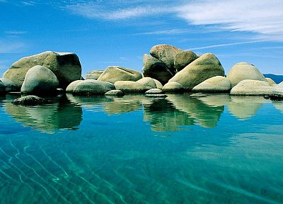 stones, Nevada, Lake Tahoe - random desktop wallpaper