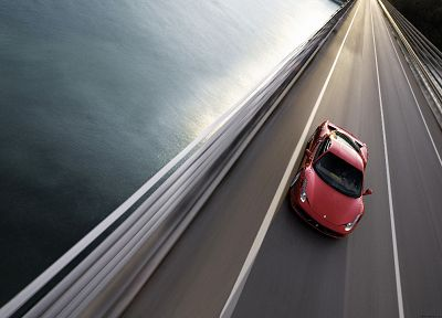 water, ocean, cars, bridges, roads, vehicles, Ferrari 458 Italia - desktop wallpaper