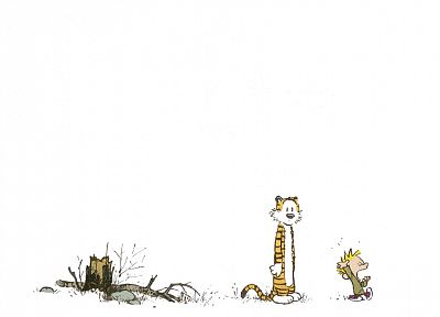 Calvin, Calvin and Hobbes - random desktop wallpaper
