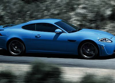 cars, Jaguar XKR, blue cars - random desktop wallpaper