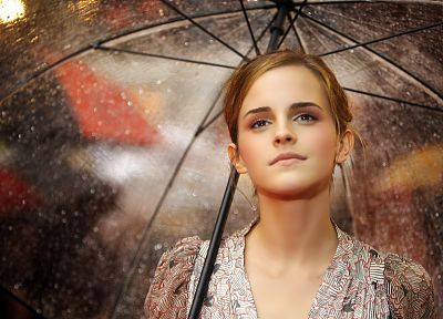 women, Emma Watson, celebrity, umbrellas - related desktop wallpaper