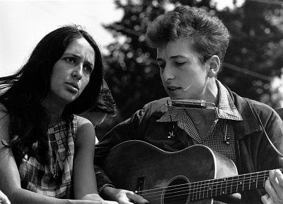 Bob Dylan, Joan Baez - random desktop wallpaper