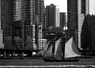 cityscapes, architecture, buildings, vehicles, sailboats, rivers - random desktop wallpaper