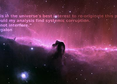 World of Warcraft, quotes, nebulae, Horsehead Nebula, Algalon the Observer, Ulduar - desktop wallpaper