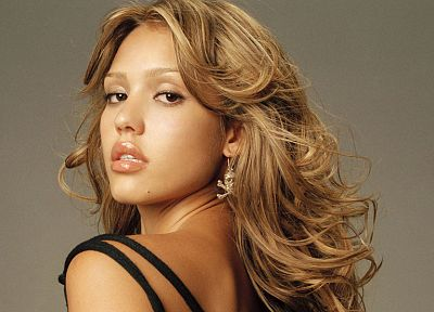 brunettes, blondes, women, Jessica Alba, actress, celebrity - desktop wallpaper
