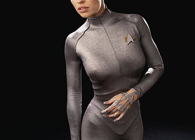 women, Star Trek, costume, Jeri Ryan - duplicate desktop wallpaper