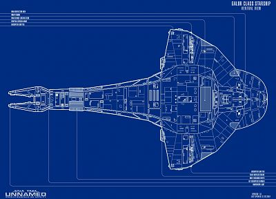 Star Trek, blueprints - random desktop wallpaper