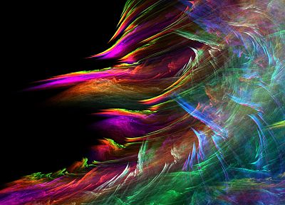 abstract, paintings, multicolor, waves, fractals, rainbows, sea - desktop wallpaper