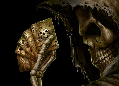 cards, death, dark, Ace, playing cards, grim reapers, Andrew Dobell - random desktop wallpaper