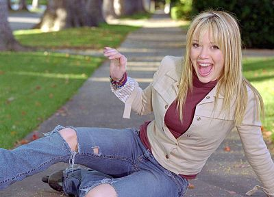 jeans, Hilary Duff - random desktop wallpaper