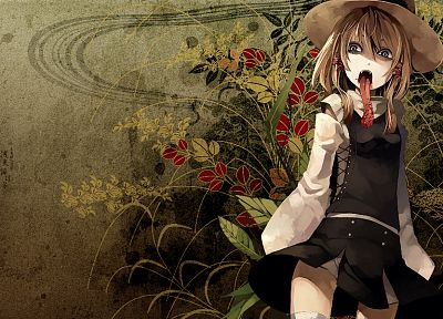 video games, Touhou, tongue, Moriya Suwako - random desktop wallpaper