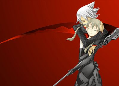 Soul Eater, Albarn Maka, Soul Eater Evans, simple background - related desktop wallpaper