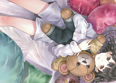 toys (children), Sora No Woto, teddy bears, Kishida Mel, anime girls, Suminoya Kureha - desktop wallpaper