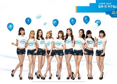women, Girls Generation SNSD, celebrity, Intel - related desktop wallpaper