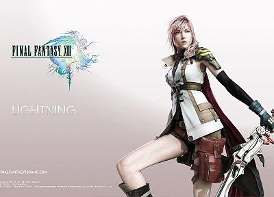 Final Fantasy, Final Fantasy XIII, Claire Farron, simple background - desktop wallpaper