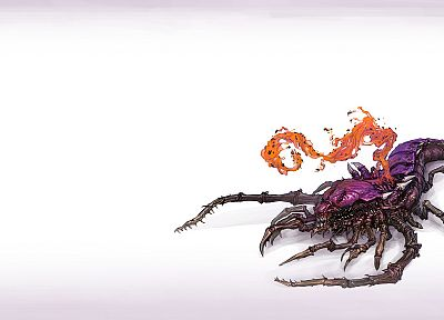 video games, Zerg, artwork, StarCraft II - random desktop wallpaper