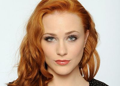 women, close-up, redheads, Evan Rachel Wood, faces, white background - related desktop wallpaper