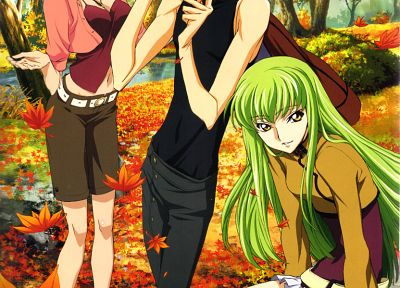 Code Geass, Stadtfeld Kallen, Lamperouge Lelouch, C.C. - related desktop wallpaper