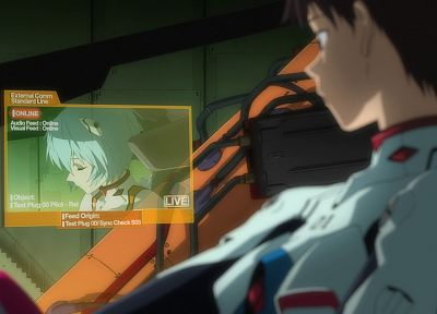 Ayanami Rei, Neon Genesis Evangelion, Ikari Shinji, anime, anime boys - related desktop wallpaper