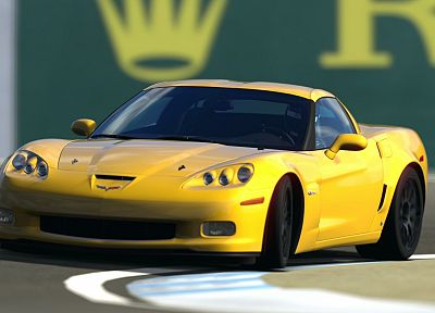 video games, cars, Gran Turismo, Chevrolet Corvette, 2006, Chevrolet Corvette Z06, Gran Turismo 5 - desktop wallpaper