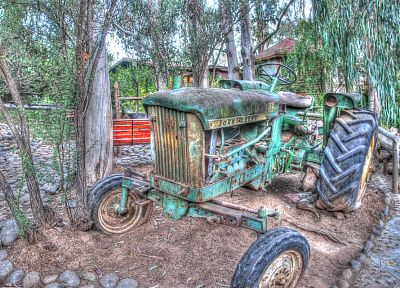 tractors, HDR photography - random desktop wallpaper