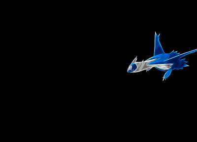 Pokemon, legendary, simple background, black background, Latios - desktop wallpaper