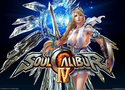 blondes, video games, blue eyes, Soul Calibur IV, drawings, 3D - random desktop wallpaper