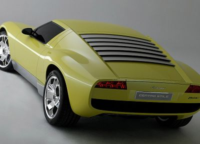 cars, Lamborghini, vehicles, Lamborghini Miura Concept, backview cars - random desktop wallpaper