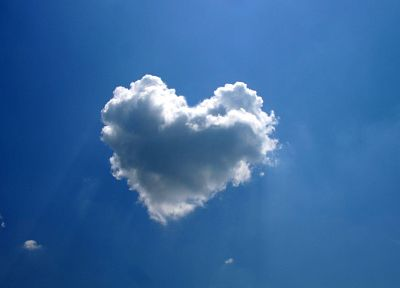 clouds, hearts, skyscapes - random desktop wallpaper