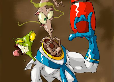 cartoons, Earthworm Jim, fan art - random desktop wallpaper