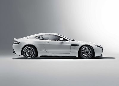 black and white, cars, Aston Martin, white cars, racing cars - random desktop wallpaper