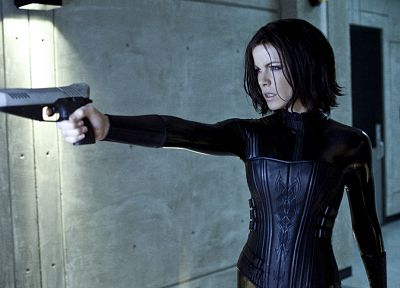leather, guns, Kate Beckinsale, Underworld, Underworld Awakening - related desktop wallpaper