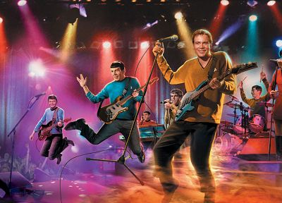 Star Trek, parody, Spock, James T. Kirk, band, Uhura - random desktop wallpaper