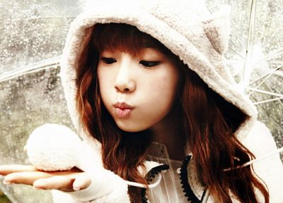 brunettes, women, Girls Generation SNSD, celebrity, Asians, Kim Taeyeon, hats - desktop wallpaper