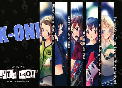 K-ON!, live - random desktop wallpaper