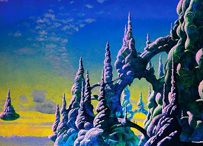 paintings, fantasy art, Roger Dean - random desktop wallpaper