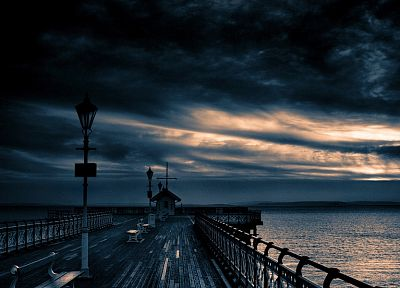 clouds, landscapes, nature, dock, skyscapes - desktop wallpaper