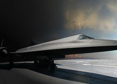SR-71 Blackbird, United States Air Force - random desktop wallpaper