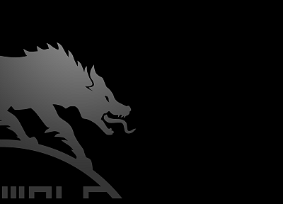 minimalistic, wolves - random desktop wallpaper