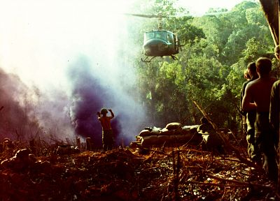 soldiers, war, helicopters, Viet Nam, vehicles, UH-1 Iroquois - random desktop wallpaper