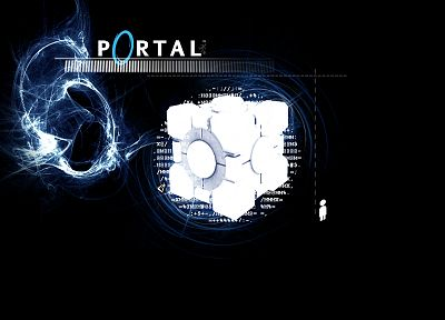 Portal, Companion Cube - desktop wallpaper