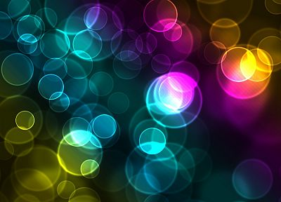 abstract, circles, glowing, bokeh - random desktop wallpaper