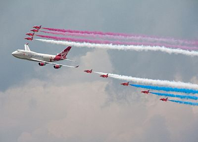 aircraft, Red Arrows, airliners - related desktop wallpaper